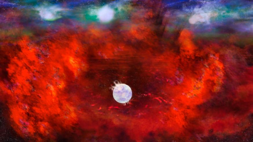 Artist's image of a supernova