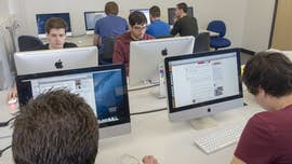 Computer Science students in design suite
