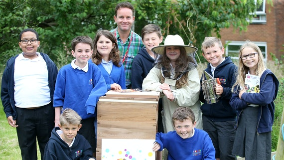School children taking part in a Pharmabees event