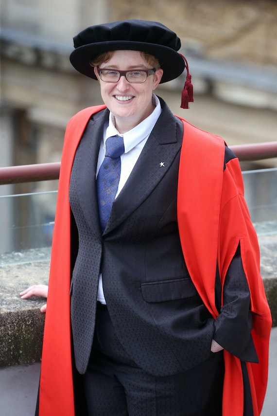 Ruth Hunt in graduation robes