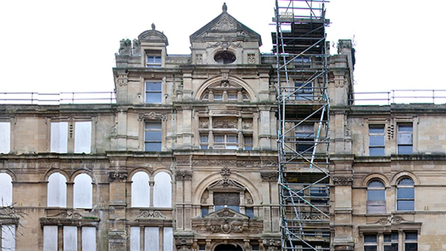 Building refurbishment at the Coal Exchange in Cardiff