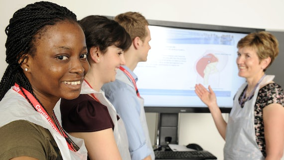 Students in the clinical skills centre