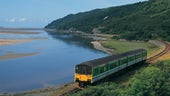 Train near the coast