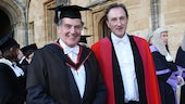 Professor Doe with Pro-Vice Chancellor of Oxford University, the Revd Dr Ralph Waller.
