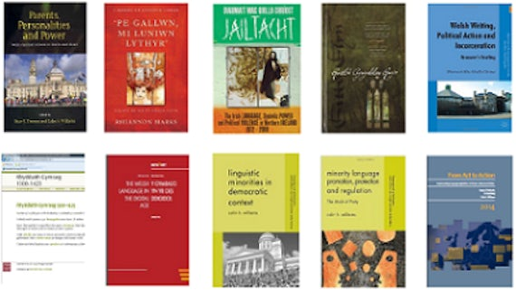 A range of publications by staff at Cardiff University School of Welsh.