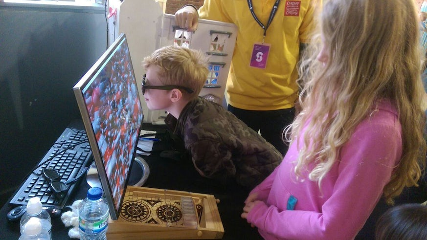 Children engaging with catalysis at the Manchester Science Festival 2016