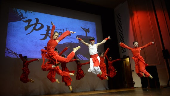 Traditional dance performance - jumping