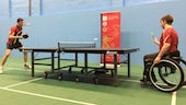 Cardiff University students playing table tennis