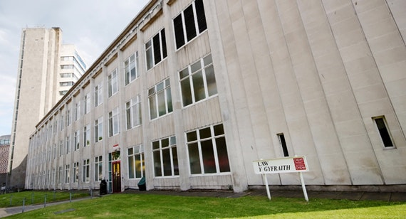 Front of Cardiff law building