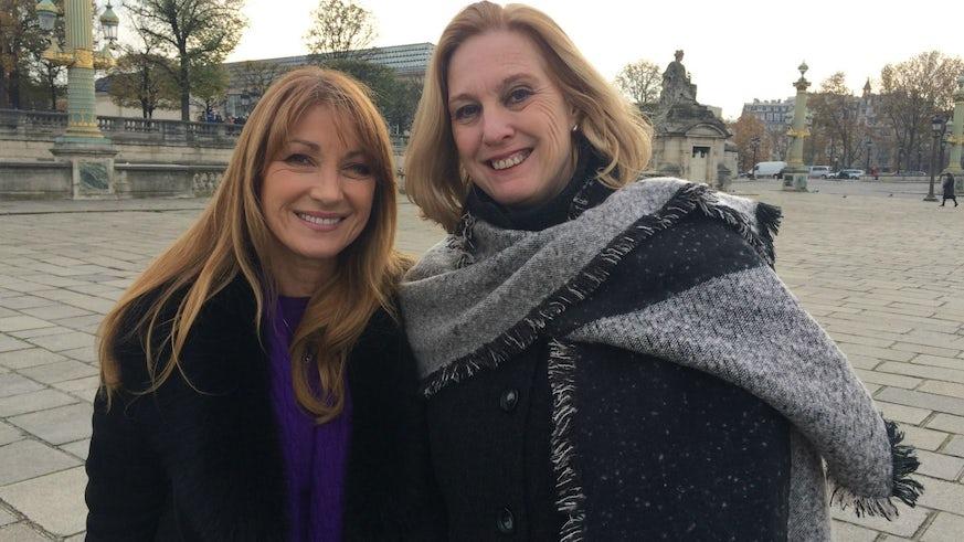 Jane Seymour with Professor Hanna Diamond