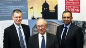 Professor Wincott, Lord Hope and Professor Khaliq