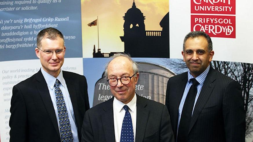 Professor Wincott, Lord Hope and Professor Khaliq