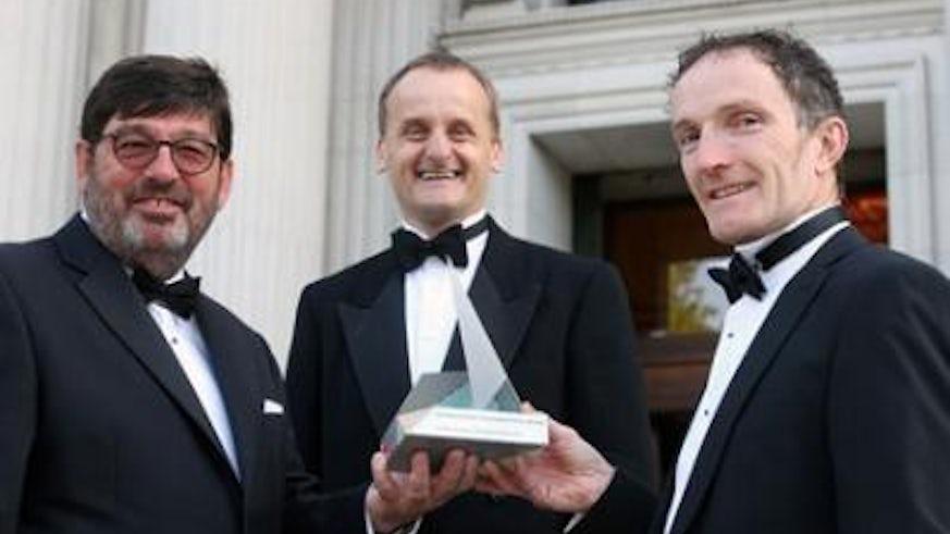 Professor Peter Turnbull with International Collaboration Award