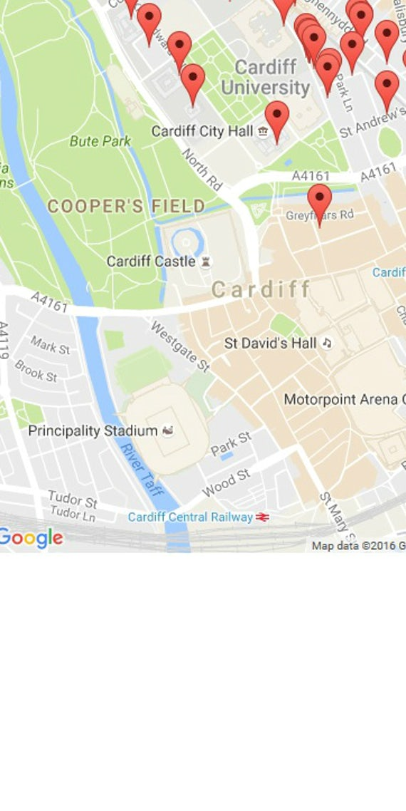 Google map of Main Building area