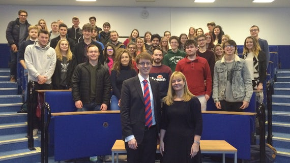 Dr Kay Swinburne, Member of the European Parliament for Wales, visits Cardiff to discuss Brexit with Politics students