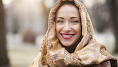 An adult student in hijab