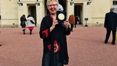Dr Maggie Woodhouse at Buckingham Palace
