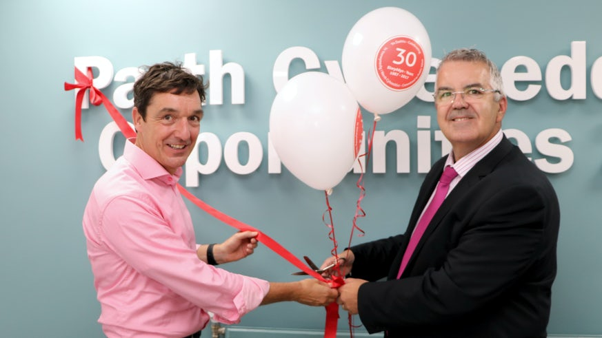 Martin Kitchener and Robert Lloyd Griffiths in Opportunities Zone