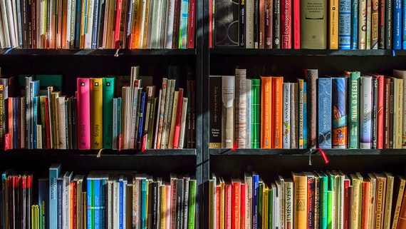 Books on bookcases