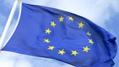 EU flag moving in the wnd