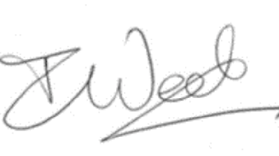 Professor Ian Weeks signature