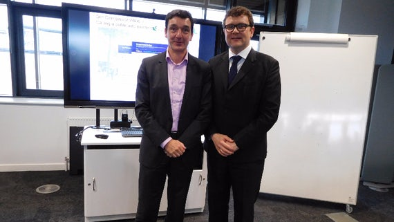 Image of Professor Martin Kitchener with Professor Timo Meynhardt