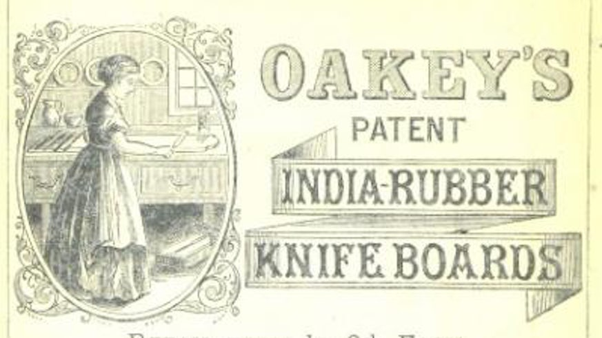 Oakey's petent India-rubber knife boards
