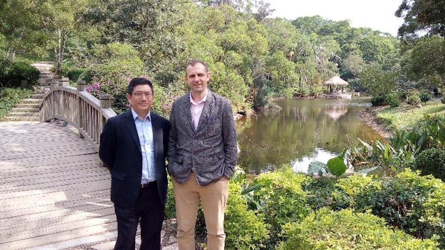 Professor Xu Ke and Professor Radchenko at Xiamen University Campus