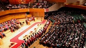 Image of Graduation ceremony in St David's Hall