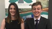 Law students Eleanor Murphy and Jonathan Adcroft who competed in this year's Client Interviewing Competition.