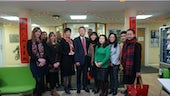 Minister Ma Hui and staff from Cardiff Confucius Institute