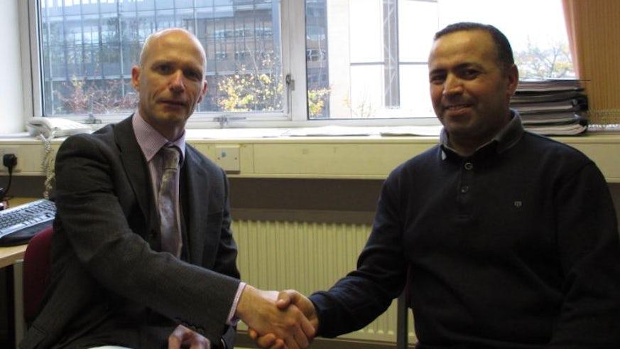 Professor Diarmait Mac Giolla Chriost and Dr Khalid Ansar