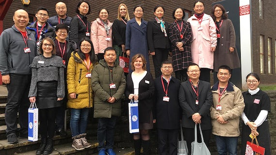 Welcoming Xuzhou Medical University delegates to Cardiff