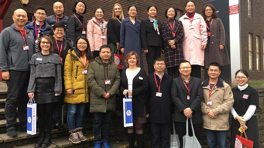 Welcoming Xuzhou Medical University delegates to Cardiff
