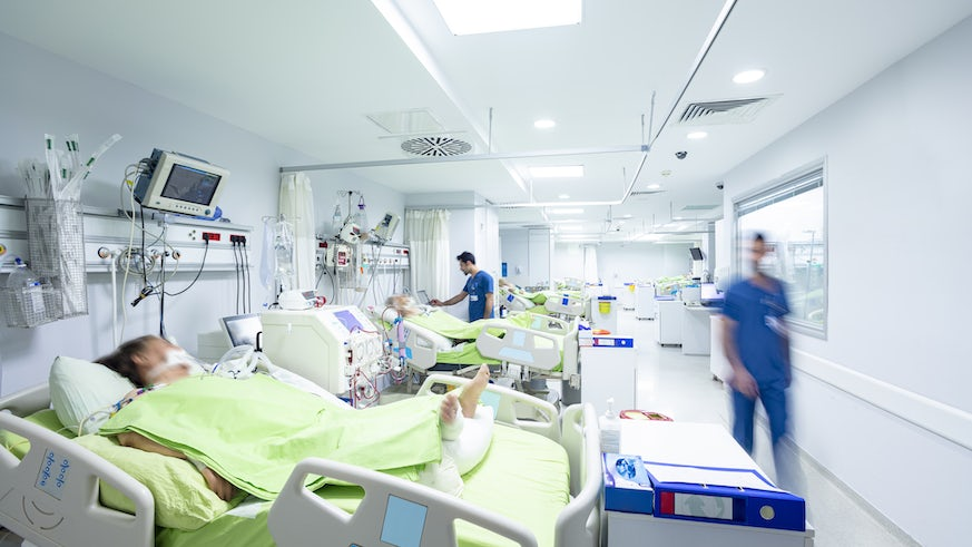 Stock image of intensive care