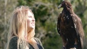 Sophie-lee Williams with a golden eagle