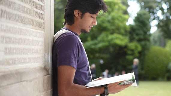 Bangladeshi student reading