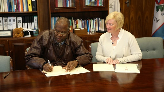 Cardiff and Namibia universities signing Memorandum