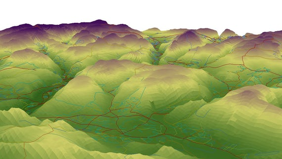 3d network analysis of the South Wales Valleys