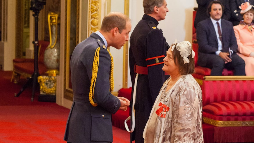 Professor Helen Houston awarded MBE by Prince William