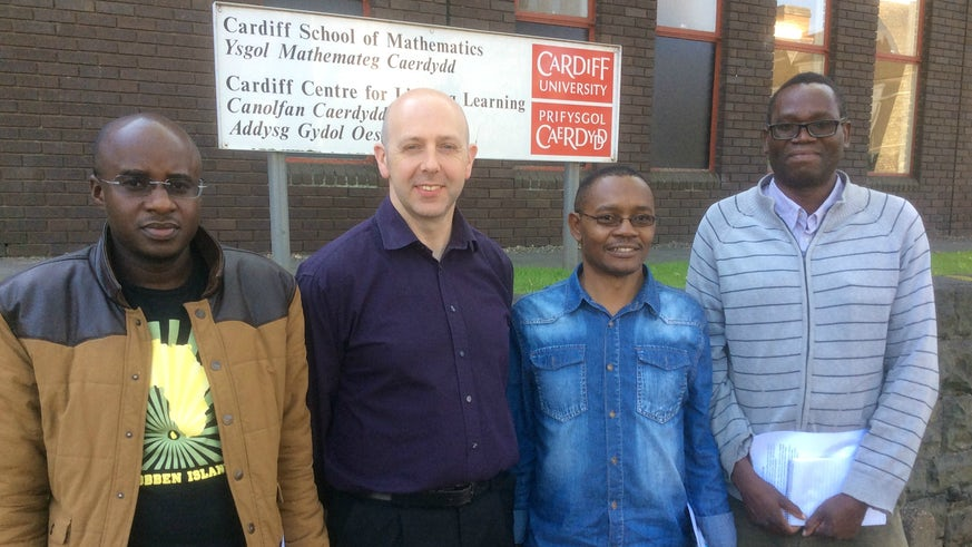 International delegation outside School of Maths