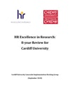HR Excellence in Research: 8-year Review for Cardiff University