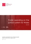 Public spending on the justice system for Wales