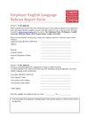 Employer English language referee report form