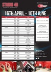 Studio 49 class timetable summer 2018