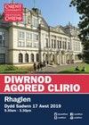 Rhaglen Diwrnod Agored Clirio Prifysgol Caerdydd 2019