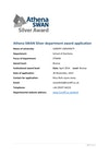 School of Dentistry Athena Swan Application 2015