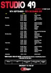 Cardiff University Sport fitness class timetable September 2017